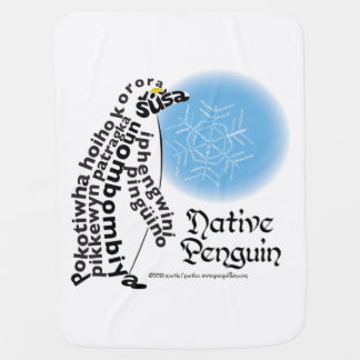Native Penguin Baby Blanket