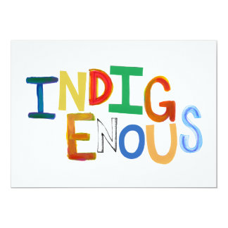 Native people Indigenous tribal fun colorful art 13 Cm X 18 Cm Invitation Card