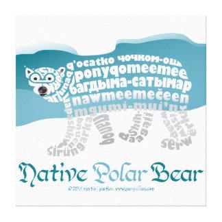 Native Polar Bear Canvas Print