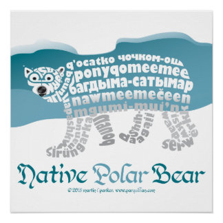 Native Polar Bear Poster