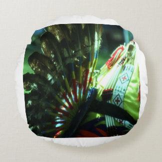 Native Pride Pow wow Dancer Round Cushion