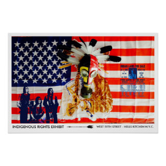 NATIVE RIGHTS ART EXHIBIT - NEW YORK CITY POSTER