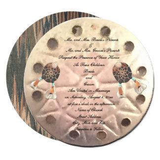 Native Sand Dollar Wedding Card