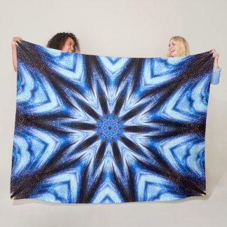Native Shaman Cosmic Wheel Fleece Blanket