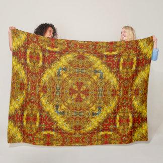 Native Shoshone Sun Spirit Sand Mandala Art Fleece Blanket