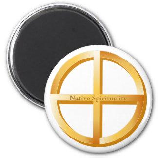 Native Spirituality Symbol 6 Cm Round Magnet