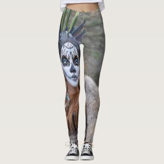 Native Sugar Skull Leggings