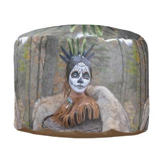 Native Sugar Skull Pouf