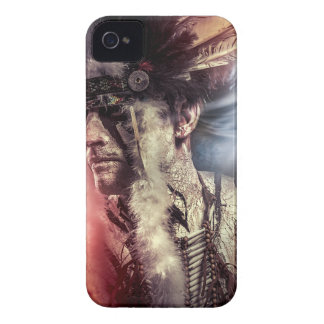 Native sunset american indian chiet AT iPhone 4 Case