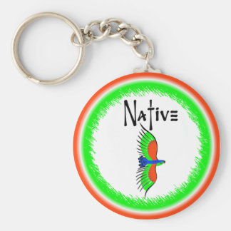 NATIVE THUNDERBIRD BASIC ROUND BUTTON KEY RING