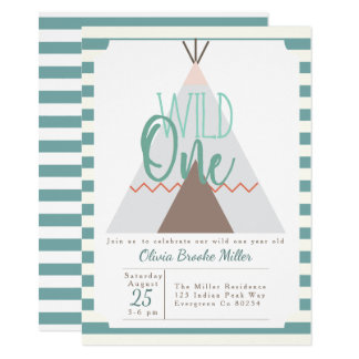 Native Tipi | Wild One Birthday Party Invite