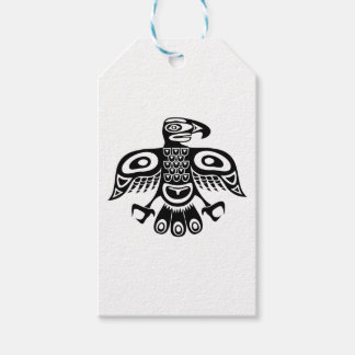 Native totem bird gift tags
