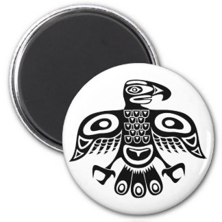 Native totem bird magnet