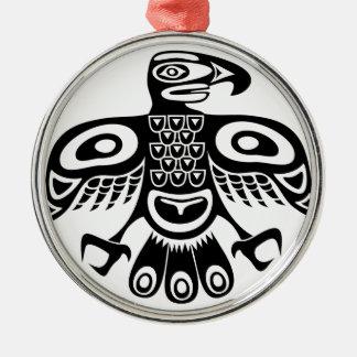 Native totem bird metal ornament
