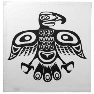 Native totem bird napkin