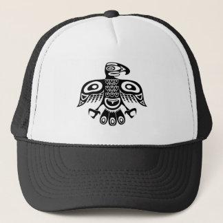 Native totem bird trucker hat