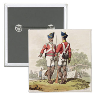 Native Troops in the East India Company's Service: Button