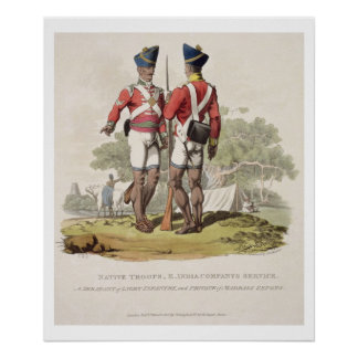 Native Troops in the East India Company's Service: Poster