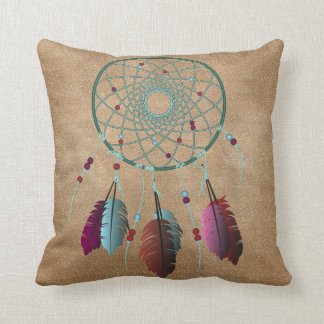 Native Turquoise Purple Dream Catcher Cushion