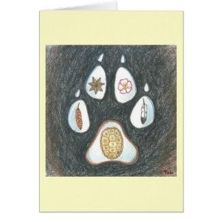 Native Wolftrack notecard