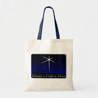 Nativity A Child Is Born Tote Bags