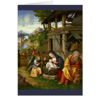 Nativity and Child Angels  c1515 Card