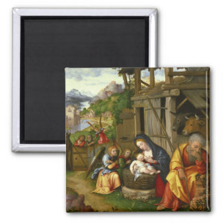 Nativity and Child Angels  c1515 Magnet