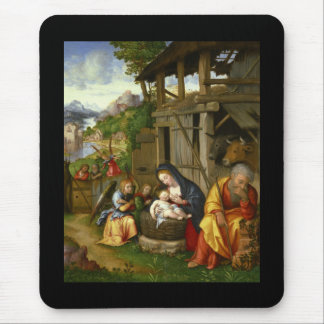Nativity and Child Angels Mouse Pad