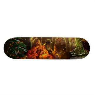 Nativity and Church - The Birth of Christ 21.6 Cm Skateboard Deck
