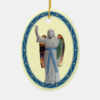 Nativity Archangel Ceramic Oval Decoration