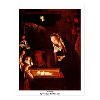 Nativity By Geertgen Tot Sint Jans Postcard