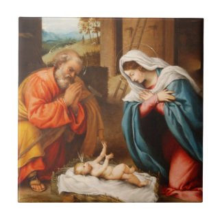 Nativity by Lorenzo Lotto Tile