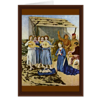 Nativity By Piero Della Francesca (Best Quality) Card