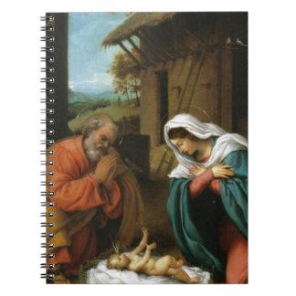 Nativity Christ Baby Jesus Christianity Scripture Spiral Notebook