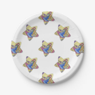 Nativity Christmas: Baby Jesus, Mary  in a manger 7 Inch Paper Plate