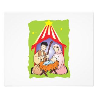 Nativity Christmas Birth of Jesus Christ Stamps Photo Print
