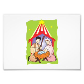 Nativity Christmas Birth of Jesus Christ Wrapper Photographic Print