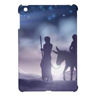 Nativity Christmas Illustration Mary and Joseph iPad Mini Case