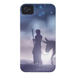 Nativity Christmas Illustration Mary and Joseph iPhone 4 Cover