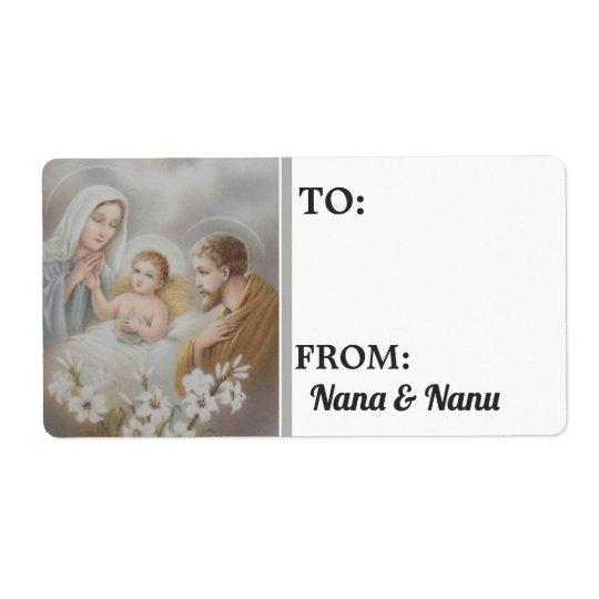 Nativity Christmas Personalised
