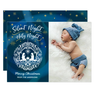 Nativity Christmas Photo Card
