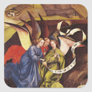 Nativity, detail of three angels, c.1425 square stickers