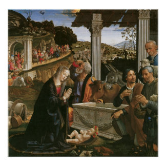 Nativity - Domenico Ghirlandaio Canvas Print
