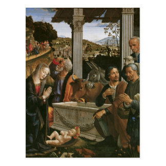 Nativity - Domenico Ghirlandaio Postcards