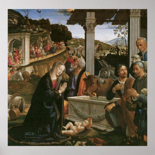 Nativity - Domenico Ghirlandaio Print