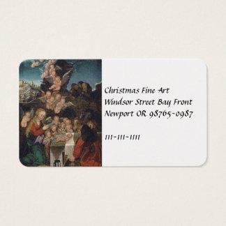 Nativity Featuring Cherubs Business Card