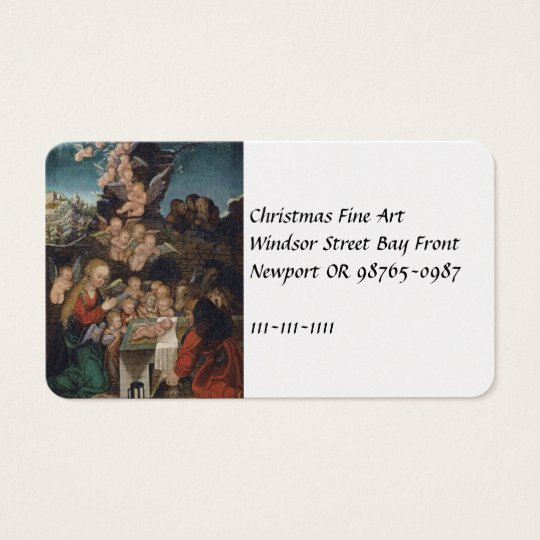 Nativity Featuring Cherubs Business Card