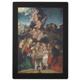 Nativity Featuring Cherubs Clipboards