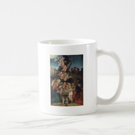 Nativity Featuring Cherubs Coffee Mug