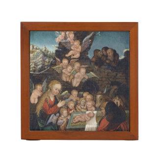 Nativity Featuring Cherubs Desk Organiser